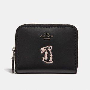 Coach SELENA GOMEZ Bunny Wallet F39319 BLACK